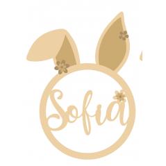 3mm mdf Personalised Bunny Hoop Easter