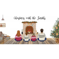 Printed Christmas Family Plaques  Valentines