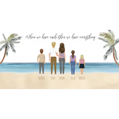 Printed Beach Family Plaques  Valentines