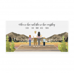 Printed Countryside Family Plaques