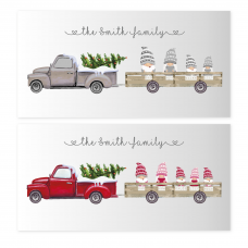 Printed Christmas Truck Gonk Design Personalised and Bespoke