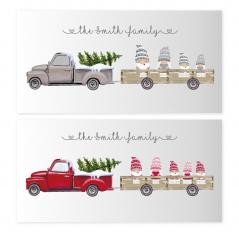 Printed Christmas Truck Gonk Design Personalised and Bespoke
