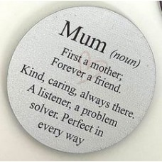 3mm Printed Token - Mum (noun) Printed Tokens / Hugs