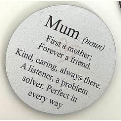 3mm Printed Token - Mum (noun) Printed Tokens / Hugs