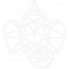 3mm mdf Geometric Ganesh Hearts