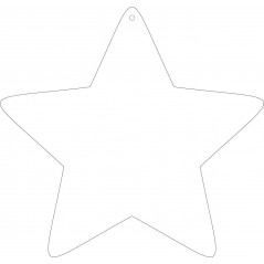 10cm High Acrylic Rounded Star 1 Hole (pack of 10) Christmas Baubles
