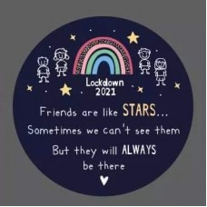3mm Printed Token - Friends are like stars - LOCKDOWN Printed Tokens / Hugs