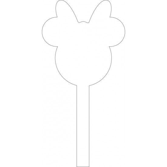 Lady Mouse Acrylic Cake Topper Cake Toppers