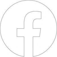 Acrylic Facebook Icon (pack of 10)