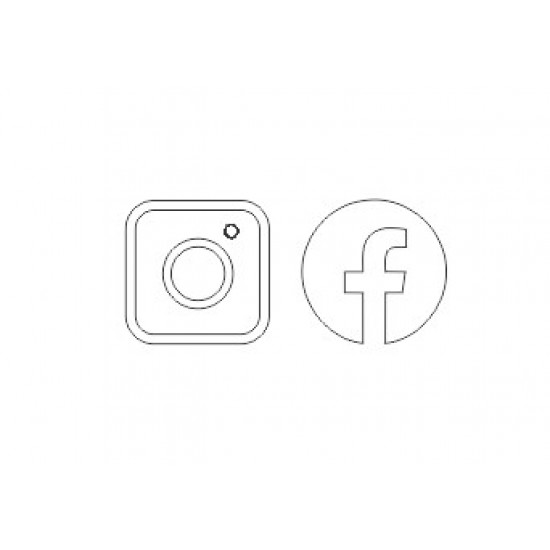Acrylic Facebook Icon and Instagram Icon (pack of 5 each) ACRYLIC ITEMS