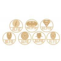 3mm mdf Personalised Layered Superhero Hoop