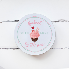 Personalised Printed Tin - Baked with Love Personalised and Bespoke