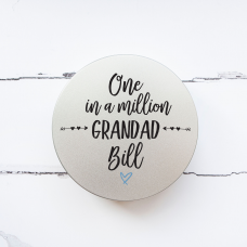 Personalised Printed Tin - One In a Million Grandad Personalised and Bespoke