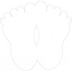 15cm Acrylic Baby Feet Basic Shapes