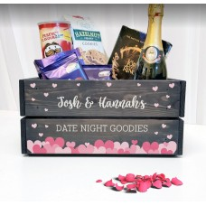 Grey Printed Crate - Date Night Easter