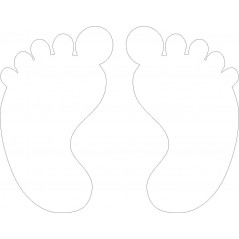 8cm high baby feet (pair) (pack of 5 pairs) ACRYLIC ITEMS