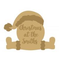 Layered Fat Santa Christmas at the sign