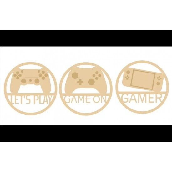 3mm mdf Gamer Hoop (3 choices) Personalised and Bespoke