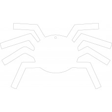 Acrylic Black Spider 10cm High Halloween