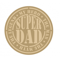 3mm mdf Layered Super Dad Circle