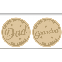 3mm mdf Layered Slanted Dad/Grandad Circle