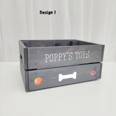 Printed Grey Crate - Pets  Personalised and Bespoke