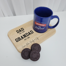 Printed Wooden Tea and Biscuits Tray - Established Design Fathers Day