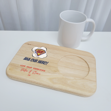 Printed Wooden Tea and Biscuits Tray - Super Hero Fathers Day