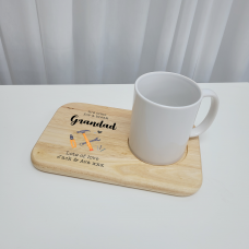 Printed Wooden Tea and Biscuits Tray - Tools Design Fathers Day