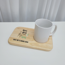Printed Wooden Tea and Biscuits Tray - Gin Mother's Day