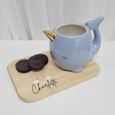 Printed Wooden Tea and Biscuits Tray - Rainbow Mother's Day