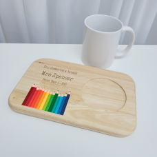 Printed Wooden Tea and Biscuits Tray - Teacher Teachers