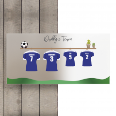 Printed Football Shirt Plaque Fathers Day