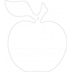 3mm MDF Apple leaf and stalk (new shape) (PACK OF 10) Food