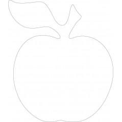 10cm Acrylic apple (Pack of 10) Basic Shapes - Square Rectangle Circle
