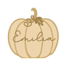 3mm Hanging New Layered Plump Pumpkin with name Halloween