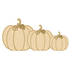 18mm Family Pumpkins with name Halloween