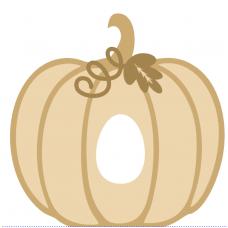 18mm New Layered Plump Pumpkin with Kinder or Cadbury Hole Halloween