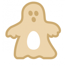18mm New Layered Ghost with Kinder or Cadbury Hole Halloween