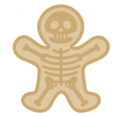 18mm + 3mm Layered Skeleton Halloween