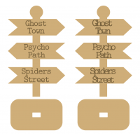 18MM MDF Halloween Singpost with Stand - Engraved or Stick on Wording