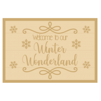 3MM MDF Layered Rectangle - Welcome to our Winter Wonderland