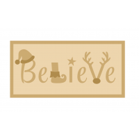 3MM MDF Layered Rectangle - Believe