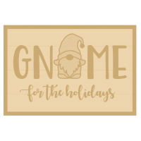 3MM MDF Layered Rectangle - Gnome for the holidays
