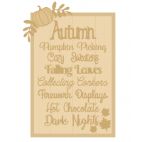 3MM MDF A3 Layered Rectangle - Autumn Quote Sign