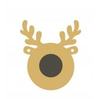 3mm mdf or 4mm Oak Reindeer Bauble with separate nose