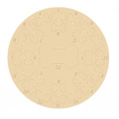 4mm Oak Veneer Circular Dog Bone Advent Calendar (etched numbers) Personalised and Bespoke