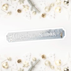 Printed Christmas Street Sign - Winter Animals Personalised and Bespoke