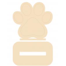 18mm Engraved Dog Paw Shape Stocking Hanger (shape 2) Christmas Shapes