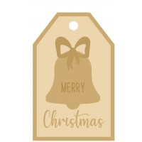3MM MDF Layered Tag - Merry Christmas with Bell